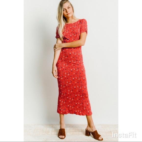 294b24abaf5 Free People Caroline Midi Dress